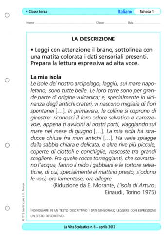 Individuare in un testo descrittivo i dati sensoriali - Descrizione camera da letto in inglese ...