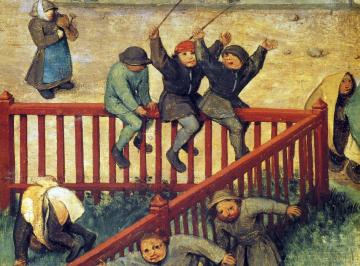Bruegel, Bambini che giocano