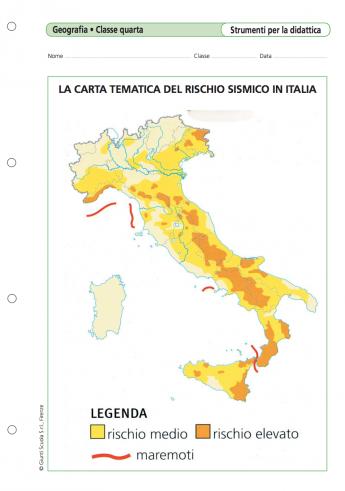 La carta tematica del rischio sismico in italia la vita for Rischio sismico in italia