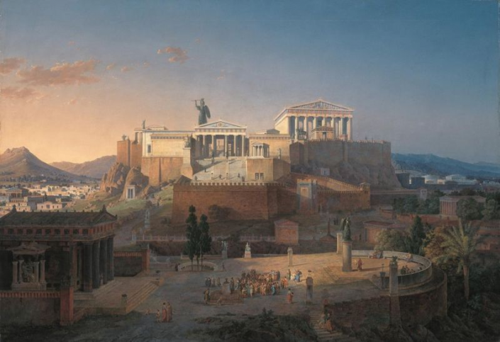 Platone Akropolis_by_Leo_von_Klenze