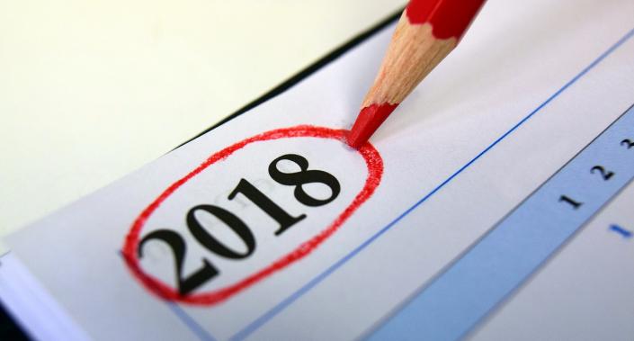 calendario agenda 2018