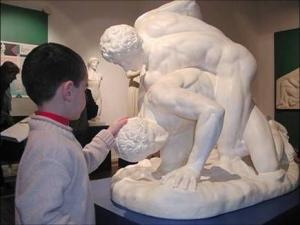 Museo tattile Omero sala greca