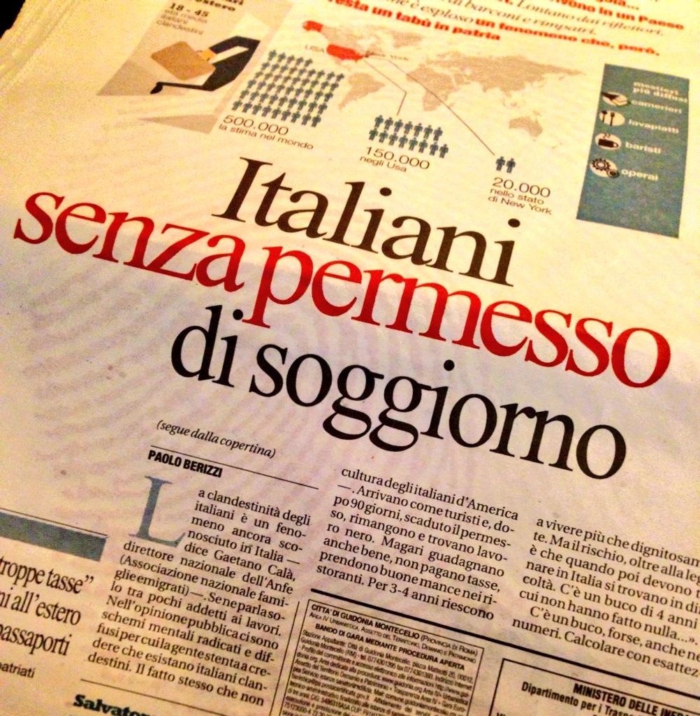 Italiani senza permesso di soggiorno un dossier anfe for Regolarizzazione stranieri senza permesso di soggiorno