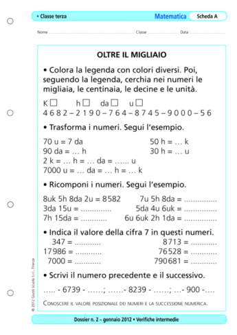 Verifiche Intermedie Matematica Classe Terza La Vita Scolastica