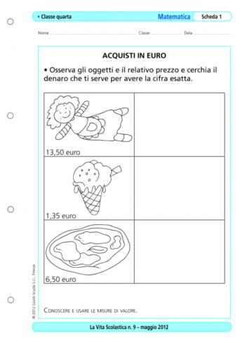 Operazioni Con L Euro E Con I Numeri Decimali Triangoli E Vari