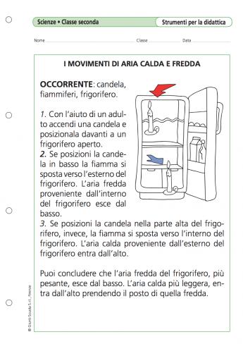 I Movimenti Di Aria Calda E Fredda La Vita Scolastica