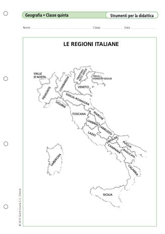 Cartina Muta Regioni Italia.Le Regioni Italiane La Vita Scolastica