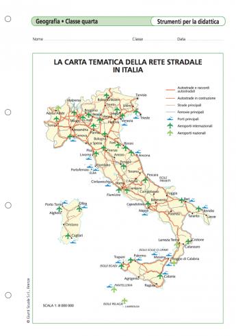 Cartina Tematica Italia Da Stampare.La Carta Tematica Della Rete Stradale In Italia La Vita Scolastica