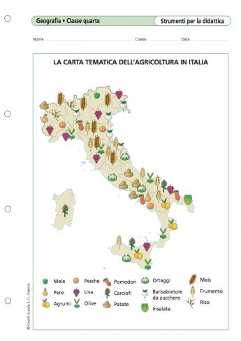 La Carta Tematica Dell Agricoltura In Italia La Vita Scolastica