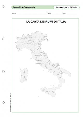Cartina Italia Fiumi.La Carta Dei Fiumi D Italia La Vita Scolastica