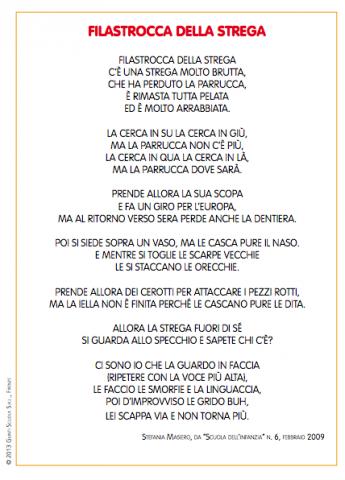 Filastrocca Della Strega La Vita Scolastica
