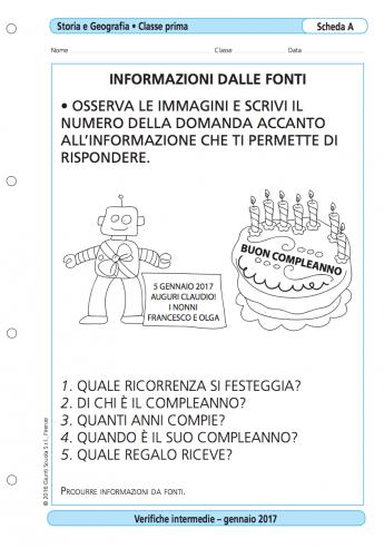 Verifiche Intermedie Storia E Geografia Classe 1 La Vita Scolastica