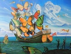 Quadri-con-le-farfalle-di-Salvador-Dalì