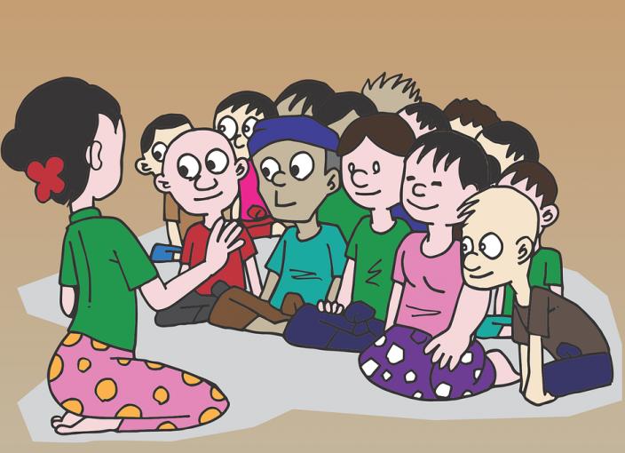 genitori multiculturale classe bambini
