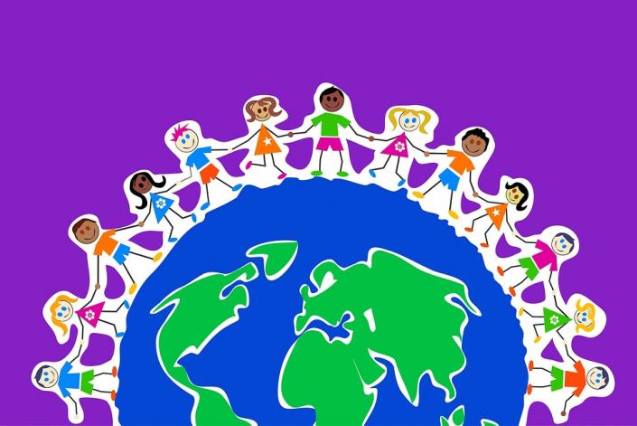 cittadinanza gruppo bambini mondo intercultura