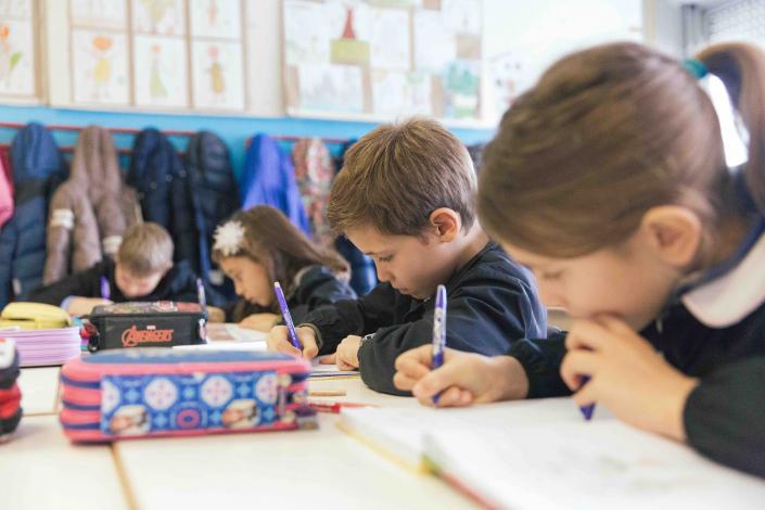 scrivere scrittura gruppo classe primaria