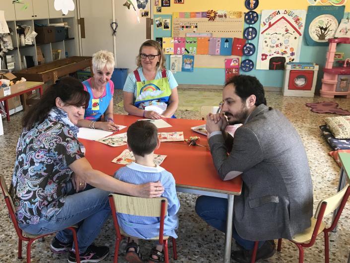insegnanti bambini scuola infanzia Sacro Cuore di Domegliara
