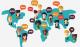 In una carta le lingue del mondo