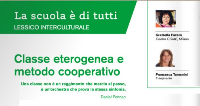 classe eterogenea e metodo cooperativo