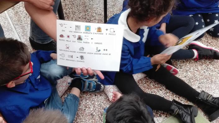 angela maltoni lettura gruppo caa bambini