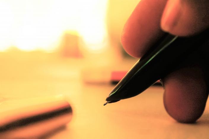 scrivere a penna