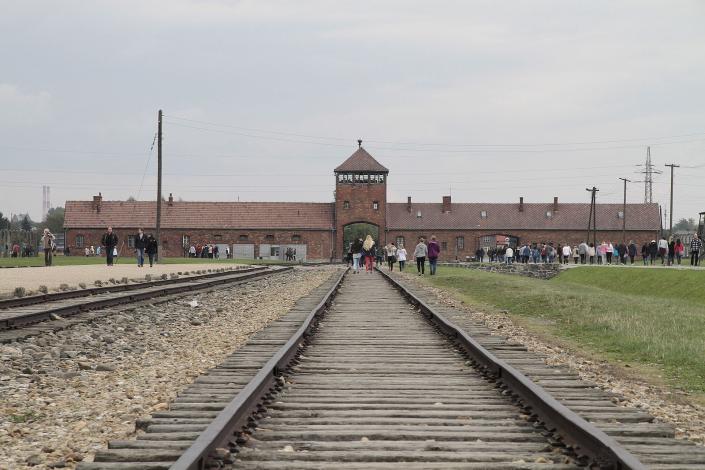 Rail_leading_to_Auschwitz_II