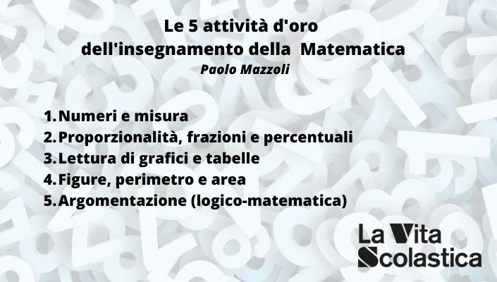 Le 5 attività d'oro dell'insegnamento della matematica