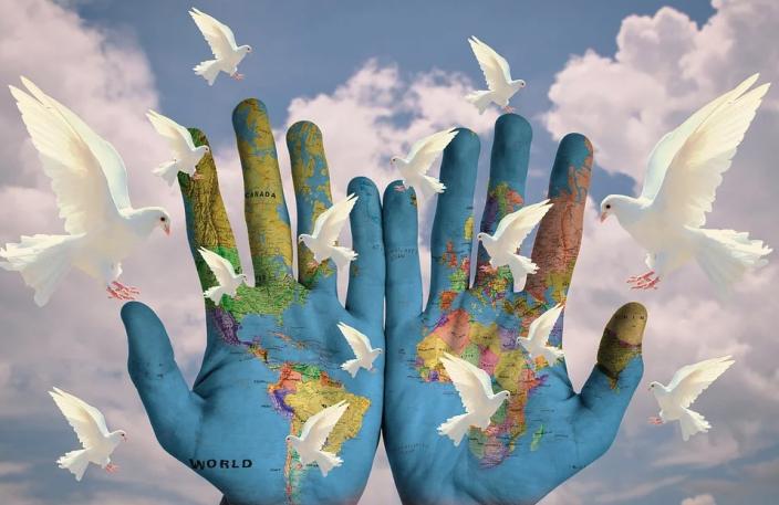 Pace mondo colomba