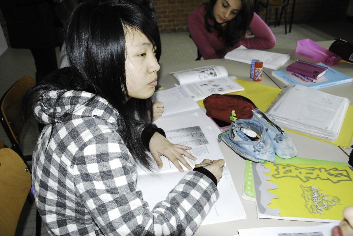 Ragazza cinese scuola media