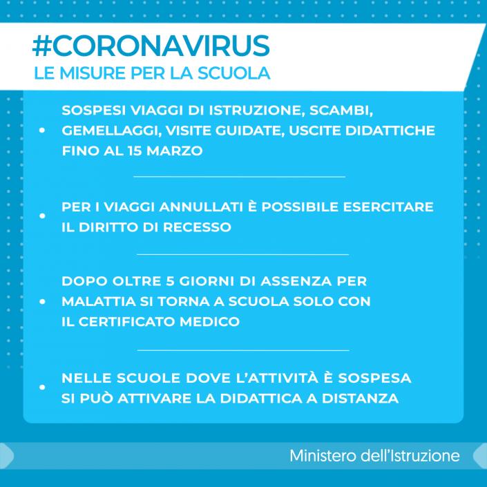 coronavirus miur