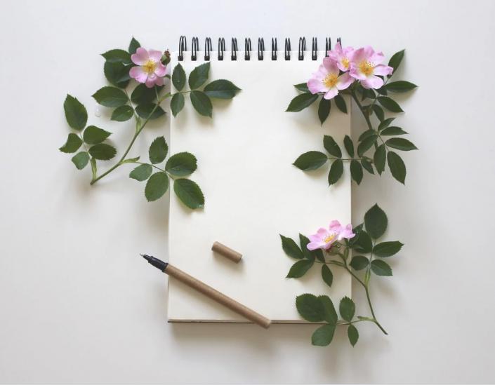 lettera scrittura fiori