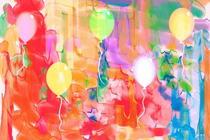 acquerelli palloncini