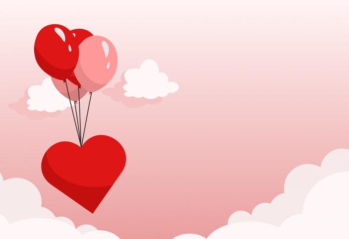 cuore palloncini