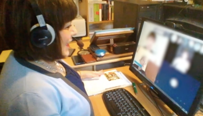 insegnante lezione skype