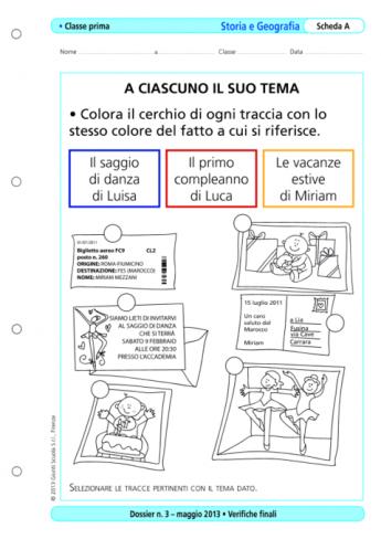 Verifiche Finali Storia E Geografia Classe Prima La Vita Scolastica
