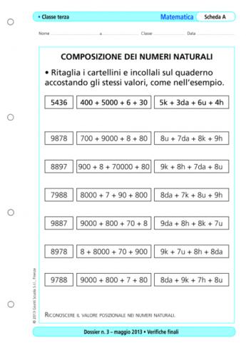 Verifiche Finali Matematica Classe Terza La Vita Scolastica