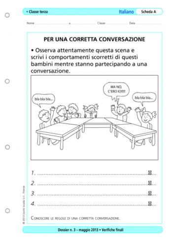 Verifiche finali italiano classe terza la vita scolastica - Scheda di un libro letto ...