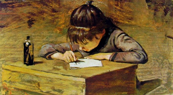 Telemaco Signorini - Bambina che scrive.jpg