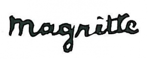 La firma di Magritte