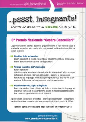 "Locandina premio ""Cesare Cancellieri"""