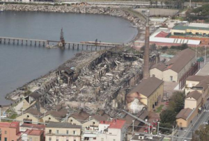 La Città della Scienza dopo l'incendio