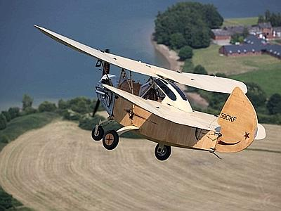 Un 'Flying Flea' costruito da un insegnante. Fonte: Adkronos